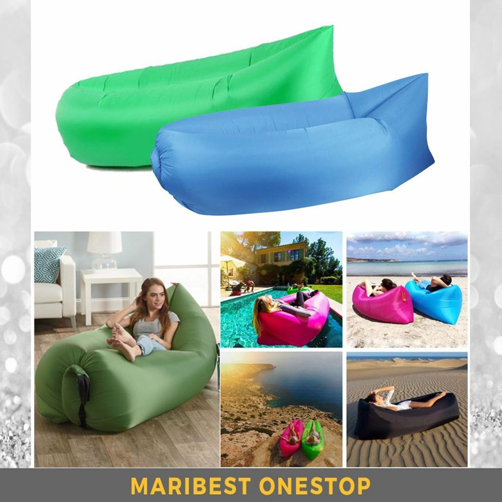 Air Inflatable Sofa: Lazy Sleeping Camp Bag | Beach Couch | Windbed - Indoor & Outdoor