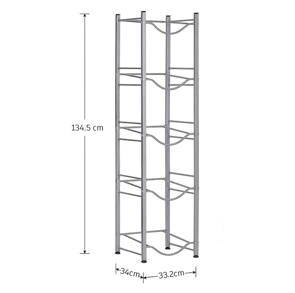 Water Bottle Storage/Rack/Stand/Holder For 5 Gallon Water Dispenser, 5 Tier, For Home, Office, Kitchen